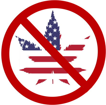 Cannabis Warning Sign for U.S..