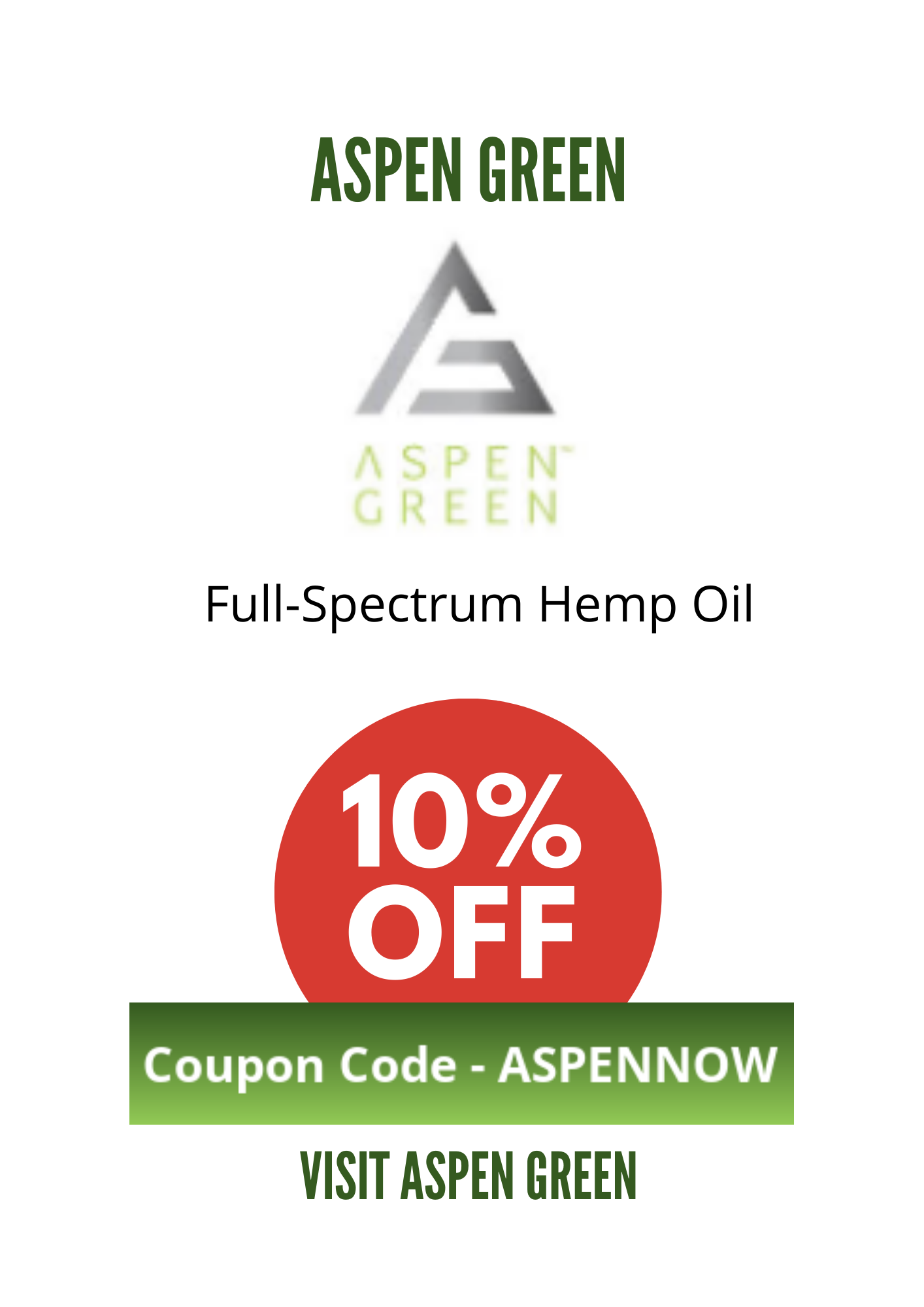 ASPEN GREEN COUPON