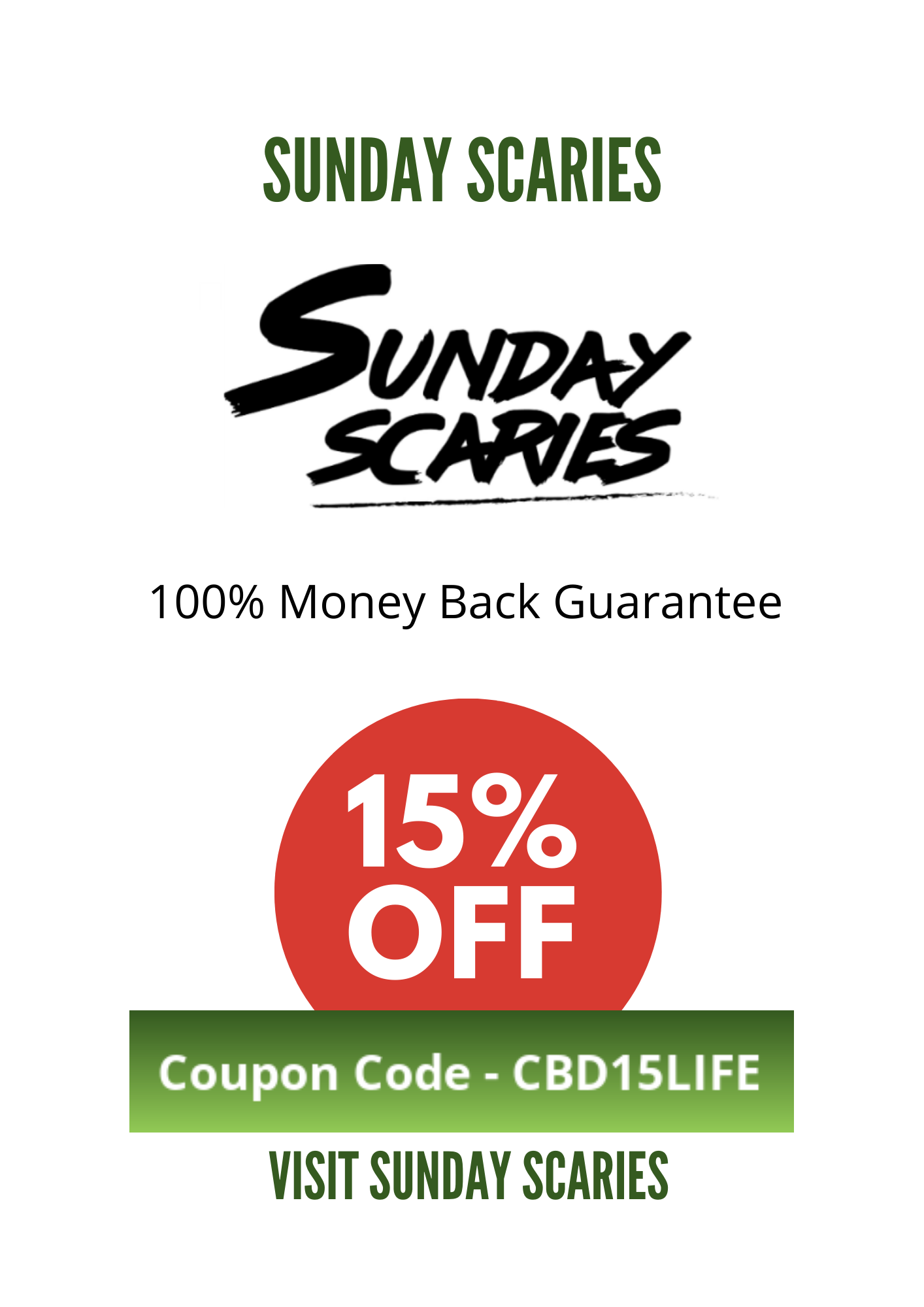 SUNDAY SCARIES COUPON