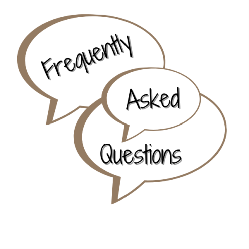 Frequently asked questions, speech bubble